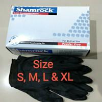 Isi 10 pcs Sarung tangan Latex black hitam karet bukan superlife