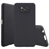 Soft Case Rubber Matte Back Cover Casing Pocophone X3 NFC X 3 Bumper