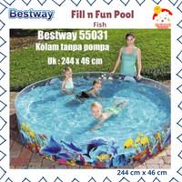 Bestway Fill n fun pool 244 x 46 cm 55031 kolam renang anak