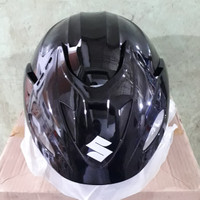 Helm Suzuki Ori SNI/ Helm Half face Suzuki Ori