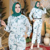jumpsuit wanita muslimah baju muslim baju tidur tiedie jumpsuit cahaya
