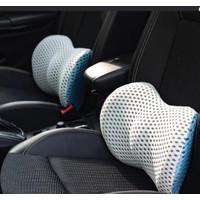 Bantal 3D Lumbar Pinggang Punggung Memory Foam Jok Mobil Kursi Kantor