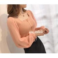 Best Seller Baju Blouse Atasan Rajut Knit Import Premium Korean Style