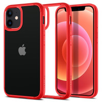 Case iPhone 12 Mini Spigen Ultra Hybrid Clear Armor Anti Crack Casing
