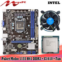 PROMO Paketan LGA 1155 Mobo H61 + Procesessor G1610 + FAN