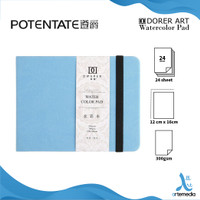 Potentate 12x16cm Hot Pressed Watercolor Handbook - BLUE