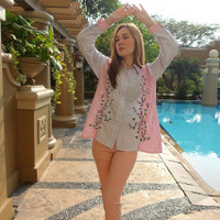 Baju Batik Wanita / Blouse Outer Atasan Kemeja Batik - Arumi Top