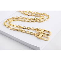 Sling bag chain with snap hook (gold) - 90cm