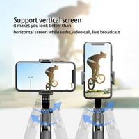 L08 Tongsis Gimbal Stabilizer Selfie Stick Tripod Smartphone Handheld - Hitam