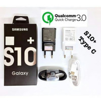 CHARGER SAMSUNG ORIGINAL S10+ KABEL DATA TYPE-C FAST CHARGING