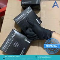 Shamrock Color Latex Gloves Powder Free Black (50pcs/box)