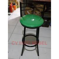 Bangku tinggi kursi counter toko sandaran besi ready makassar murah