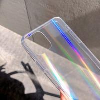 Iphone 12 Pro Max Hard Case Aurora Rainbow - Hologram Fuze Transparant