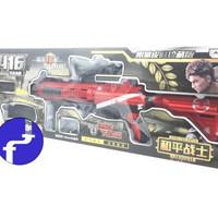 mainan anak Tembakan Carbine HK416 Water Bullet Gun + kaca mata PUBG