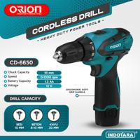 Mesin Bor Baterai Tangan / Cordless Drill Battery Orion CD-6650