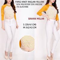 Baju Branded Wanita - FOREVER 21 62 KNOT RAGLAN YELLOW