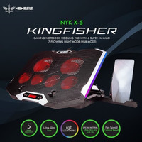 NYK X5 / X5 / X5 Kingfisher Gaming Cooling Pad Laptop 6 Fan