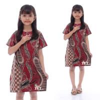 Fashion anak perempuan Dress batik anak baju batik anak perempuan