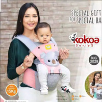 Baby Joy Gendongan Bayi Depan Baby Joy - Baby Joy Hipseat Kokoa Series