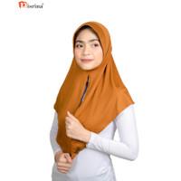 Nisrina Fashion Muslim Bergo Instan Polos Belah Depan Paras S