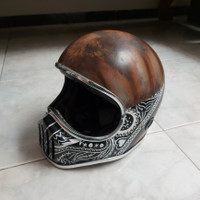 Helm Cakil Custom Bandana Rusty