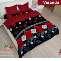bed cover lady rose sprei karet no 2 uk 160x200 motif veranda