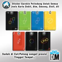 Sticker Pelindung Gar Skin Kartu Uno 2020 Minimalista ATM E Money Card