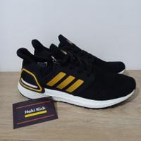 Sepatu Adidas Ultraboost Ultra Boost 20 Consortium Black Gold White