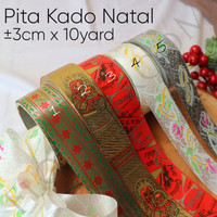Pita Kado Natal ±3cm x 10yard – Hamppers – Christmas – Red
