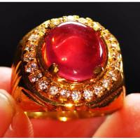 Batu permata natural ruby mozambik