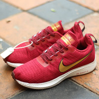Sepatu Nike Zoom Flyknit 40 Red White Sneakers Pria Casual Import
