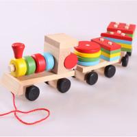 Mainan Anak Terbaru Balok Kereta Bahan Dari Kayu