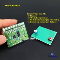 Modul BK-S38 Strobo LED 12V 24V 8 Channel Memory Manual Otomatis