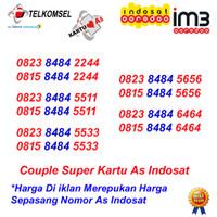 Nomor Cantik As Im3 Couple Kartu Perdana Telkomsel Indosat 4G Pasangan