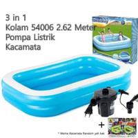 kolam renang bestway jumbo 262 x 175x 51cm 3in1,+ pompa