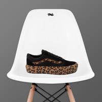 Vans Old Skool Platform Skate Shoe - Black / Leopard