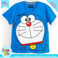 Baju Anak Murah / Kaos Anak Perempuan Logokids Doraemon 1-10 Tahun