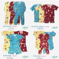 baju bayi / setelan aruchi oblong pendek 6-9 bulan