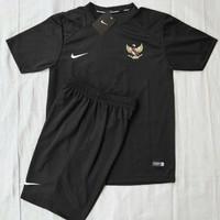 JERSEY bola Baju stelan timnas indonesia olahraga bola futsal - Hitam