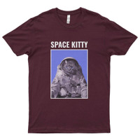 Kaos Distro Premium Lengan Pendek Kucing Luar Angkasa T-Shirt