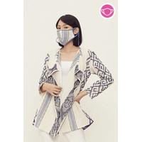 Bintari Lurik T0635,Baju atasan blouse batik wanita modern Nonarara - XL