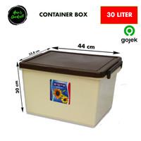 Bak kontainer box coklat 30 liter kotak plastik serbaguna 2531C
