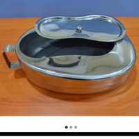 Bedpan Oval Stainless + Tutup