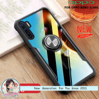 Case OPPO Reno 3 A91 Ring Transparan CLEAR JAZZ SERIES Casing Bumper