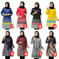 Baju Atasan Wanita / Tunik Baju Batik Wanita / Blouse Batik Kantor An2