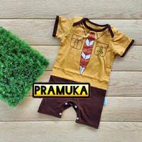 Romper Kaos Pramuka Baju Anak Bayi Laki-laki Perempuan Seragam Karakte