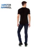 HIPSTER Celana panjang jeans pria warna BLUE BLACK / BIRU KEHITAMAN