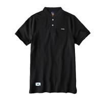 Polo Shirt Sanghai Pria Warna Hitam Polos Slimfit - M