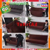 COVER SOFA BED polos sarung kursi sofa bahan kain polyester elastis