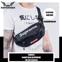 Waistbag Supreme Waterproof Cowok Import Best Grade Tas Selempang Pria